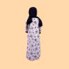 Habeebat Tabish Embroidered Open and Close Girl Abaya 1a
