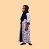 Habeebat Tabish Embroidered Open and Close Girl Abaya 1c