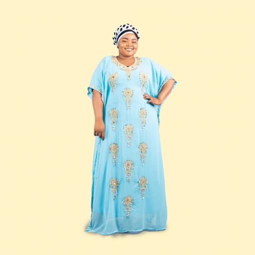 Habeebat Taiba' Blue Kaftan
