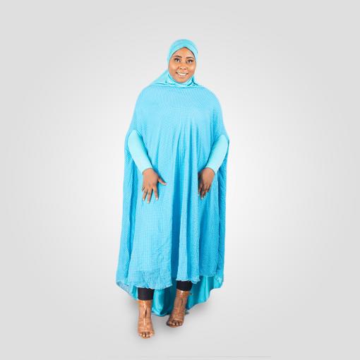 Habeebat Durra Blue Abaya Hijab 1