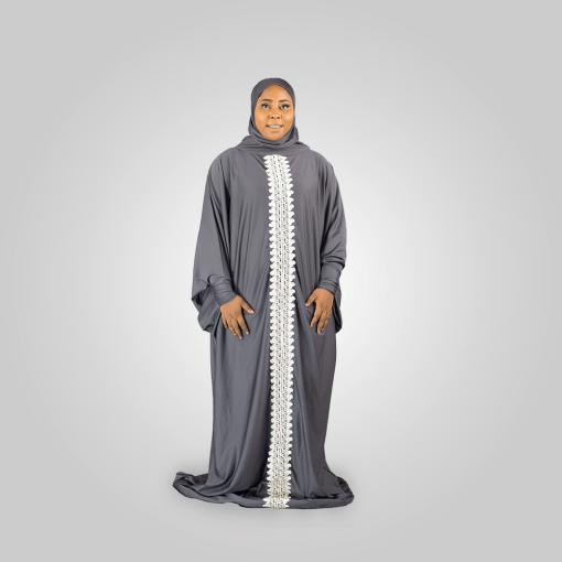 Habeebat Maimunah Embroidered Abaya Hijab 1a