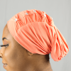 Habeebat Azraa peach Stoned Turban 1a
