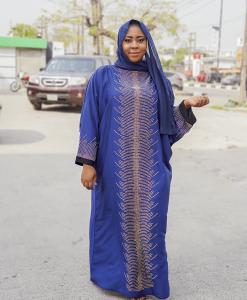 Habeebat Neisha Blue Abaya