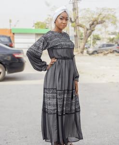 Habeebat Zara Black Abaya