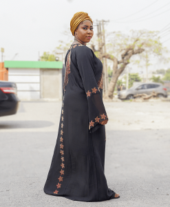 Habeebat Nura Black Abaya