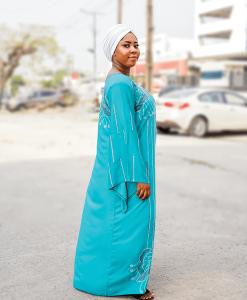 Habeebat Abibat Blue Abaya