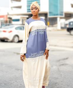 Habeebat Adihza Blue Abaya