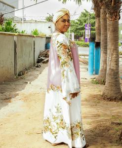 Habeebat Sa'idat flowery Abaya