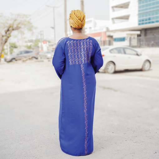 Habeebat Bushira Blue Abaya