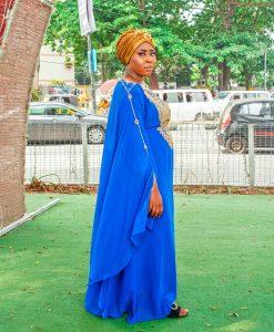 Habeebat Qureebat Blue Abaya