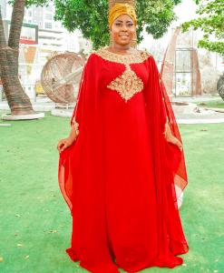 Habeebat Rabiat Red Abaya