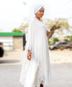 Habeebat Ruqqayah White Abaya