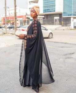 Habeebat Zainab Black Abaya